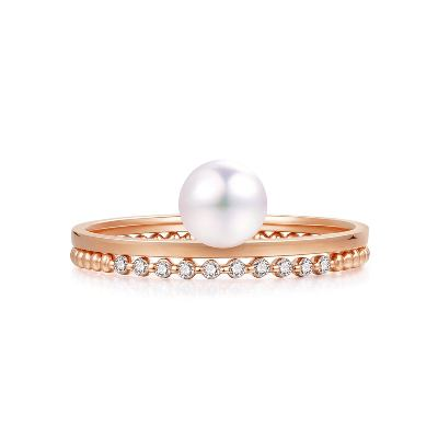 akoya pearl diamond ring