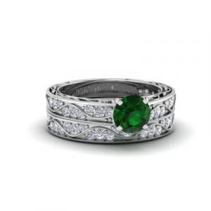 vintage wedding ring set