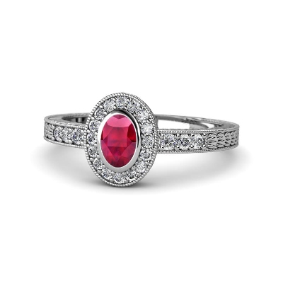 oval cut ruby diamond ring