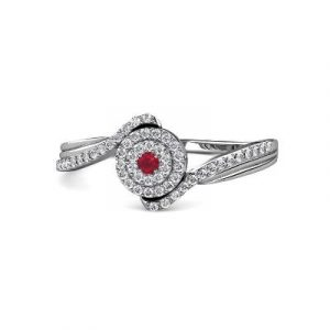 ruby diamond promise ring