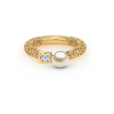 antique pearl diamond ring