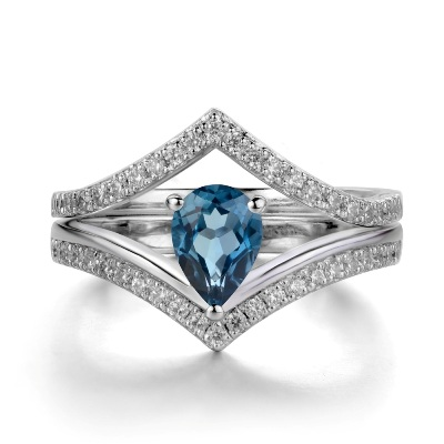 topaz wedding diamond ring