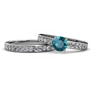 topaz diamond bridal ring set