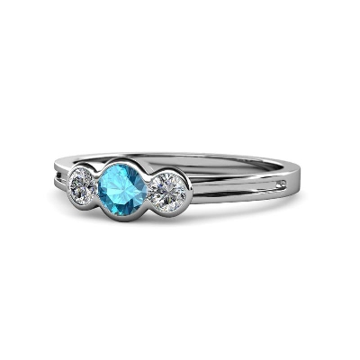 topaz three stone engagement ring