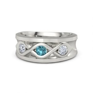 topaz men's ring