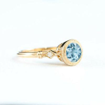 topaz diamond cocktail ring