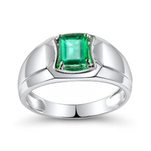 men's emerald engagement ring
