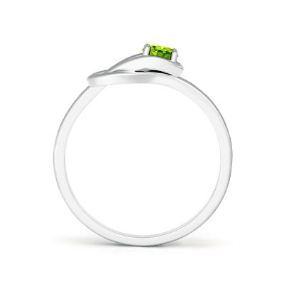 solitaire peridot ring