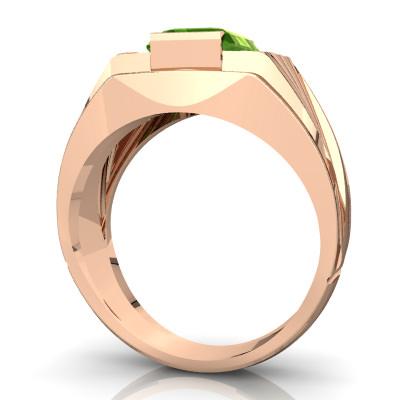 diamond peridot men's ring