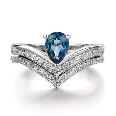 topaz wedding diamond ring