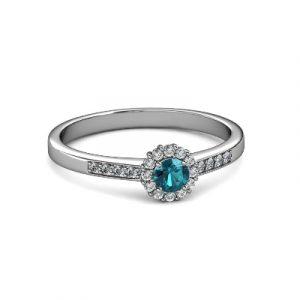 topaz diamond promise ring