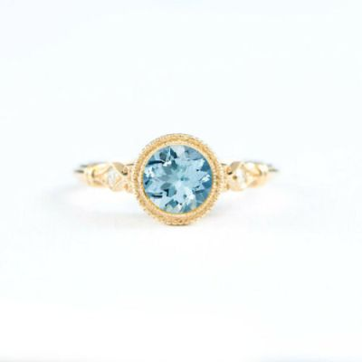 topaz diamond cocktail ring