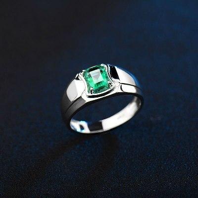 men's emerald engagement ring