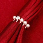 simple pearl ring for women