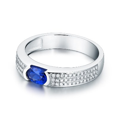 blue sapphire men's ring