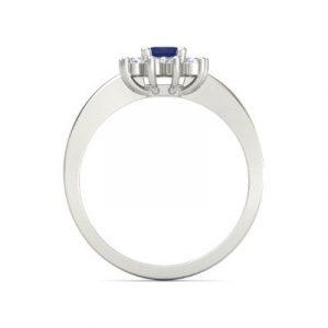 emerald cut sapphire diamond ring