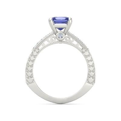 princess cut tanzanite ring