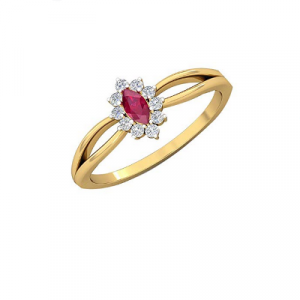 ruby engagement ring for her