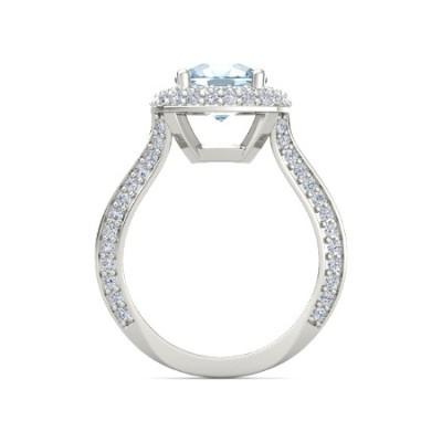halo aquamarine ring