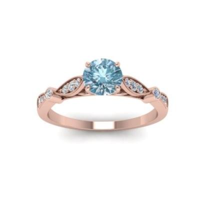 vintage style aquamarine ring