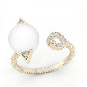unique pearl diamond ring