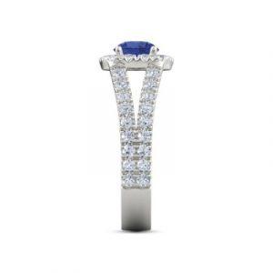 fancy sapphire diamond ring