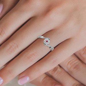 ruby diamond promise ring