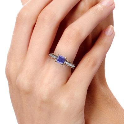 tanzanite antique style diamond ring