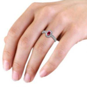 oval cut ruby diamond ring