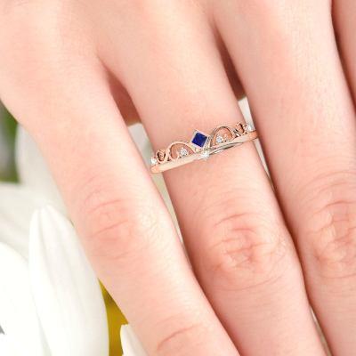 sapphire diamond engagement ring