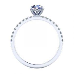 pear shaped sapphire bridal set