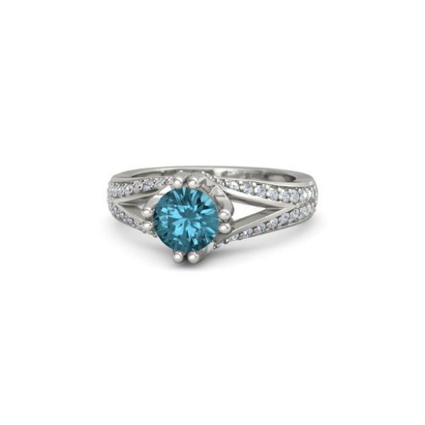 antique topaz diamond ring