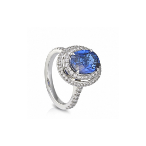 double vintage oval sapphire ring