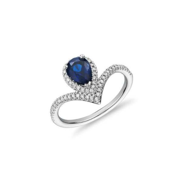 pear shaped sapphire diamond ring
