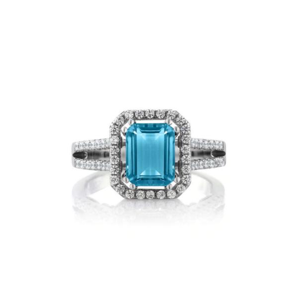 topaz wedding ring