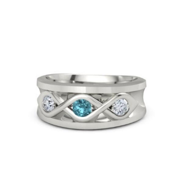 topaz men's ring