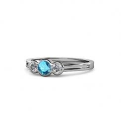 topaz three stone engagement ring