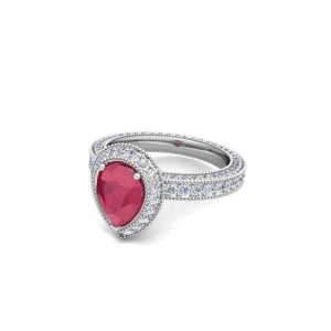 pear shape ruby diamond rings