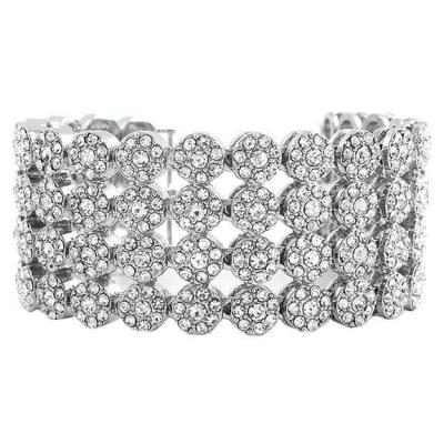 White diamonds hip hop bracelet