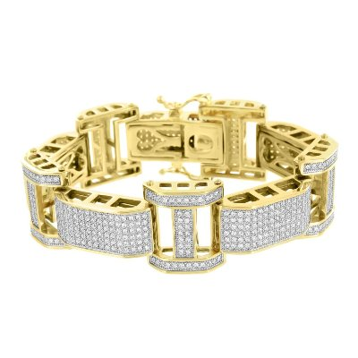 men's hip hop diamond bracelet