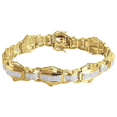 men's link hip hop diamond bracelet