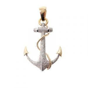 anchor charm hip hop pendant