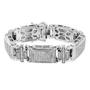 white gold mens hip hop bracelet