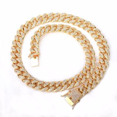 diamond cuban link choker necklace