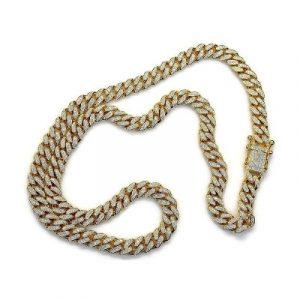 round diamond link chain necklace