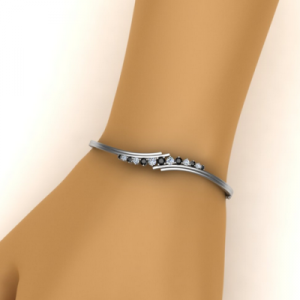 twist diamond bangle bracelet