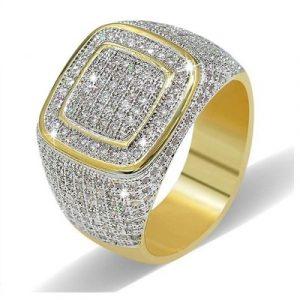 hip hop diamond ring mens