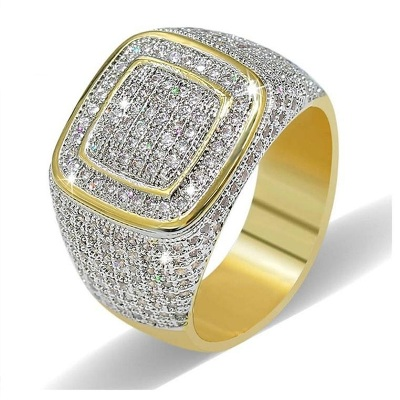 hip hop diamond ring mens