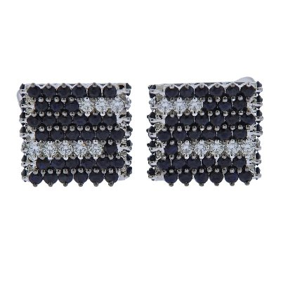 black and white diamond cufflinks