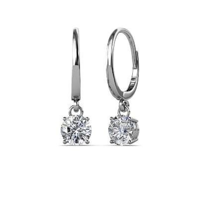 solitaire diamond dangle earring